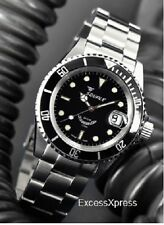 "Brand New Squale Y1545 20 Atmos ""Classic"" Black Watch Warranty Swiss Made"