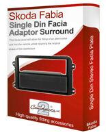Skoda Fabia stereo radio Facia Fascia adapter panel plate trim CD surround