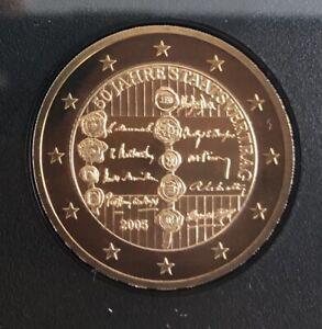 Coffret avec 2 euro commemorative Autriche 2005 BE PROOF