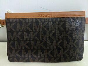 MICHAEL Michael Kors Fanny Pack Belt MK Logo Bag  Size M PVC  New