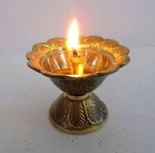 Set of 2 Brass Diya Diyas Oil Lamps Chirag For Aarti Diwali Navratras Lighting
