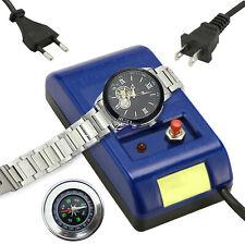Watch Repair Screwdriver Tweezers Electrical Demagnetizer Tool with Compass