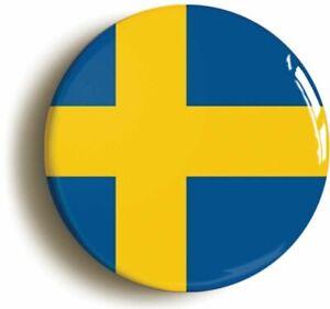 SWEDEN SWEDISH NATIONAL FLAG BADGE BUTTON PIN