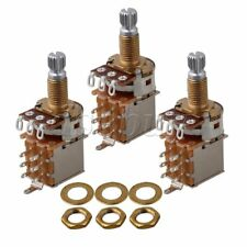 3PCS B500K18mm Gold Plated Shaft  Audio Tone Guitar Potentiometer Switch