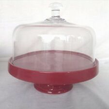 PAPRIKA RED 8 in 1 Entertainer Casserole Serving Roaster GLASS DOME Longaberger