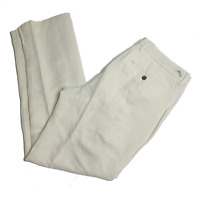 Tommy Bahama Mens Pants Size 35 x 32 Authentic Fit Flat Front Silk Linen New