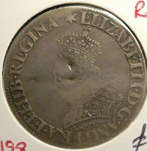 Shilling Elizabeth 1st 1560-66 Milled MM Star S2589 RARE (T116)