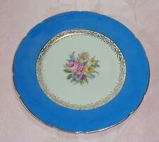 KPM Krister Royal Ivory Germany Dinner Plate Porcelain Blue Rim Floral Gold