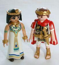 PLAYMOBIL EGYPTE - cesar et cleopatre - reine - empereur - couple