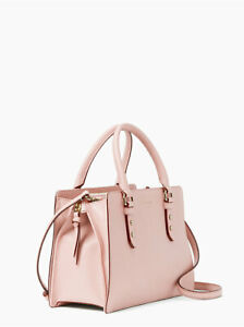 NEW Kate Spade Mulberry Street Lise Pebble Leather Satchel Rose Smoke NEW