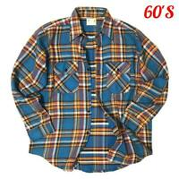 Good Pattern 60'S Vintage Five Brother Heavy Flannel Nels Shirt Size M