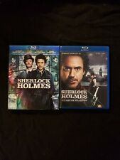 Sherlock Holmes 2 Movie Blu Ray Set, Lot H3.