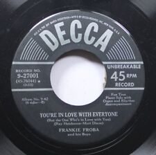 50'S & 60'S 45 Frankie Froba - You'Re In Love With Everyone / Whispering On Decc