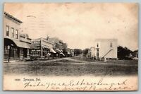 Syracuse Nebraska~Main Street~People's Store~Geo Barbee~1906 B&W Rotograph PC