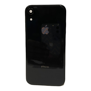 OEM Apple iPhone XR Black Housing Frame Back Cover Original without Small Parts