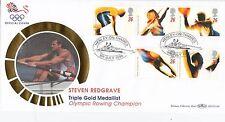 (97248) GB Benham FDC BLCS118b Olympics Steven Redgrave Rowing Henley July 1996