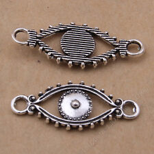 15x Charms Pendant Eye Connectors Findings Jewellery Crafts Tibetan Silver /S787