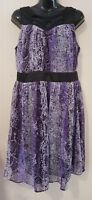 Ladies size 14 Purple Dress - Crossroads