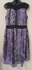 Ladies size 14 Purple Dress - Crossroads