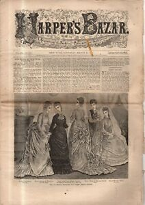 1876 Harper's Bazar March 25 - Bridal, ball, evening toilettes; Capes; Sleeves