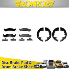 Monroe Front Disc Brake Pads Rear Drum Brake Shoes 8pcs For 1996-1997 FORD F-350