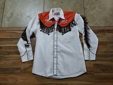 Tejas Embroidered horses Fringe Western Cowboy L Pearl Snaps