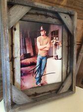 """Tim McGraw Photo In Custom Ditressed Barnwood Frame 12""""x15"""""""