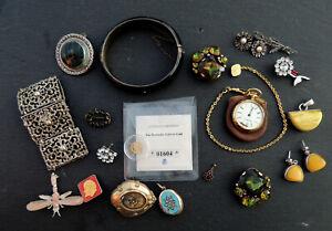 🌷🌷🌷 Schmuckkonvolut mit 333/585er Gold, Silber, antik