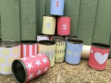 Carnival tin can labels, set of 14 paper labels, Fete Wedding Circus Fair Ground