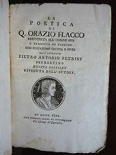 Avvocato Prenestino Petrini : La Poetica di Quinto Orazio Flacco - Roma 1802