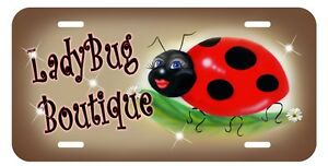 Ladybug Sweetie License Plate Personalize Gifts Any Name Or Text Ladybugs Mom