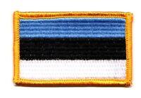 Toppe Toppa PATCH ESTONIA 7x4,5cm Bandiera banderina ricamata termoadesivo