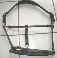Soft-Lederhalfter, schwarzes Leder, Cama Design, Gr.Warmblut