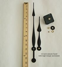 "Make a Large 24"" + clock w/ 12"" Clock Hands & Silent Motor  for dial up to 1/2"""