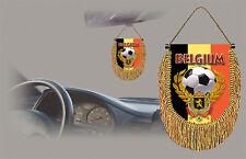 BELGIUM SOCCER FLAG CAR MINI BANNER, PENNANT