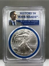2013 Obama-History In Your Hands 44th President PCGS MS70 Silver Eagle  2nd TERM