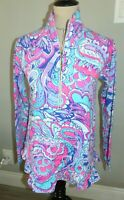 LILLY PULITZER UPF 50+ Killian Popover Pullover Top MERMAIDS CALL  Size XS NWT
