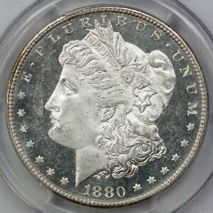 1880-S Morgan Silver Dollar, PCGS MS64 DMPL CAC, Looks Undergraded!
