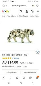 Shleich white tiger collectable toy new no tags