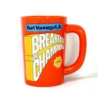Breakfast for Champions Kurt Vonnegut Jr. A Novel Orange Mug 12oz Out of Print