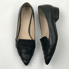 Cole Haan W14006 Women Black Camilla Leather Slip On Shoes sz 8.5B