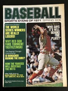 1971 Baseball Sports Stars Magazine Johnny Bench Cincinnati Reds Good