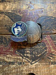 1994 Minnesota Timberwolves Brass Belt Buckle by Great American Buckle Co.