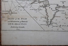 1780 A Chart of the Road & The Harbour of BREST ORIGINAL by J BEW LODGE Engraved