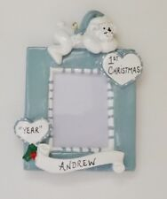 Personalized Baby / Child Photo Frame Christmas Ornament
