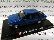 AP21N voiture 1/43 AUTO PLUS norev : FORD Escort GL 1982 bleue 5 portes