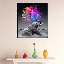 5D Colorful Diamond Painting Embroidery Cross Craft Stitch Art Kits Elephant DIY