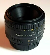 NIKON NIKKOR PRIME LENS 50mm f1.8 D : FOR SLR or DSLR : MINT CONDITION SUPERB