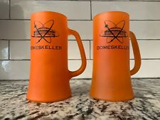 VINTAGE! Houston Astrodome Domeskeller Frosted Glass Mugs