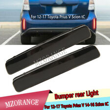 Smoke Rear Bumper Reflector LED Light For Toyota Prius V 2012 13 14-17 Scion tC